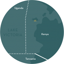 A map of Mfangano Island off the coast of Kenya