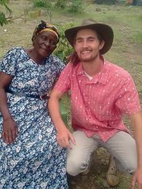 Nyika Friberg alongside a Suba elder
